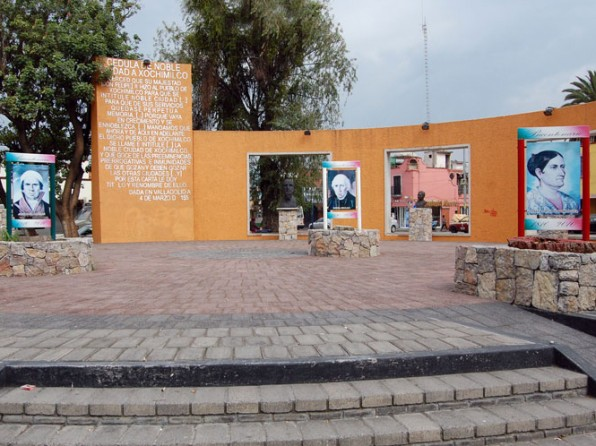 Visit the Rotunda of the Illustrious Characters of Xochimilco
