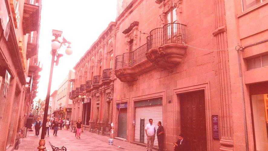 Fassade des Hauses Felix Maria Calleja del Rey Conde de Calderón