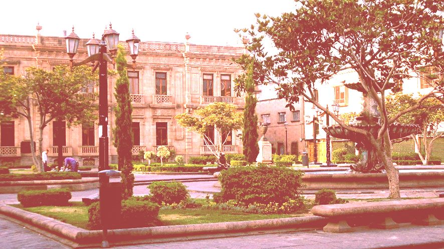 Hidalgo Garten oder Hauptplatz